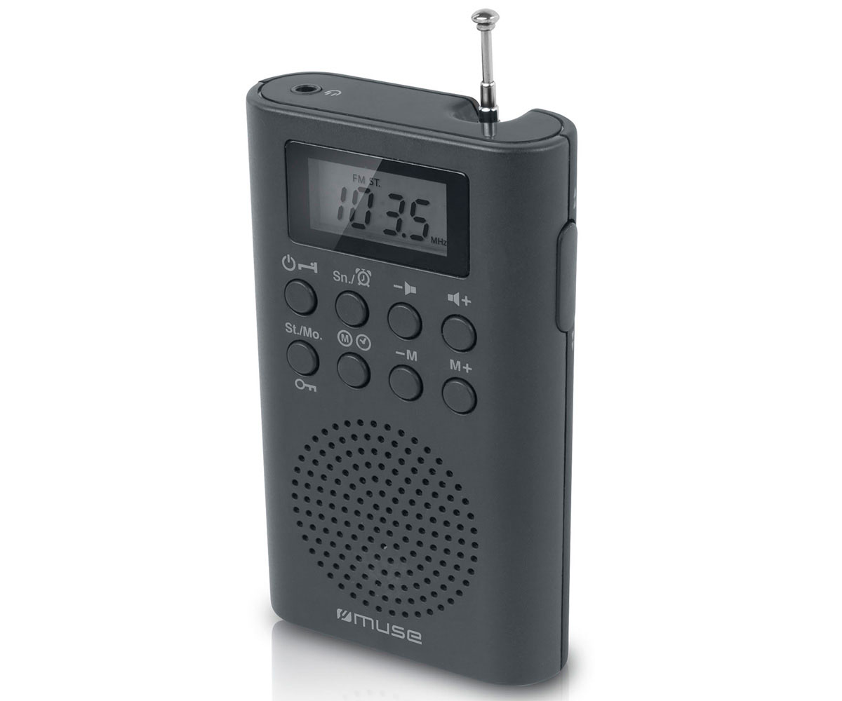 MUSE M-03 R NEGRO RADIO ANALÓGICA DE BOLSILLO FM CON ALTAVOZ INTEGRADO