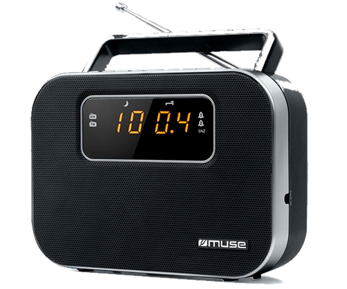 MUSE M-081 R NEGRO RADIO ANALÓGICA FM/AM PORTÁTIL CON ALTAVOZ INTEGRADO PANTALLA