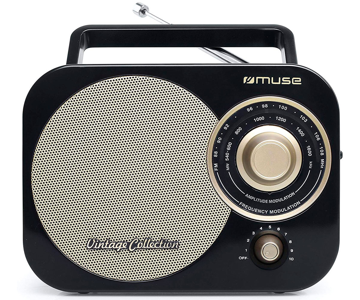MUSE M-055 RB NEGRO ORO RADIO ANALÓGICA FM/AM CON ALTAVOZ INTEGRADO