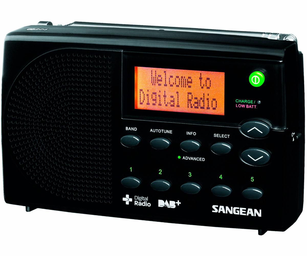 SANGEAN DPR-65 NEGRO RADIO DIGITAL PORTÁTIL FM CON RDS Y DAB+ PANTALLA LCD BATER