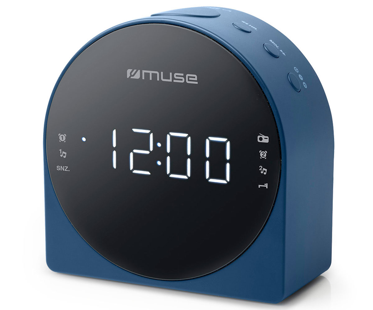 MUSE M-185 CBL AZUL RADIO DESPERTADOR AM/FM CON ALTAVOZ INTEGRADO