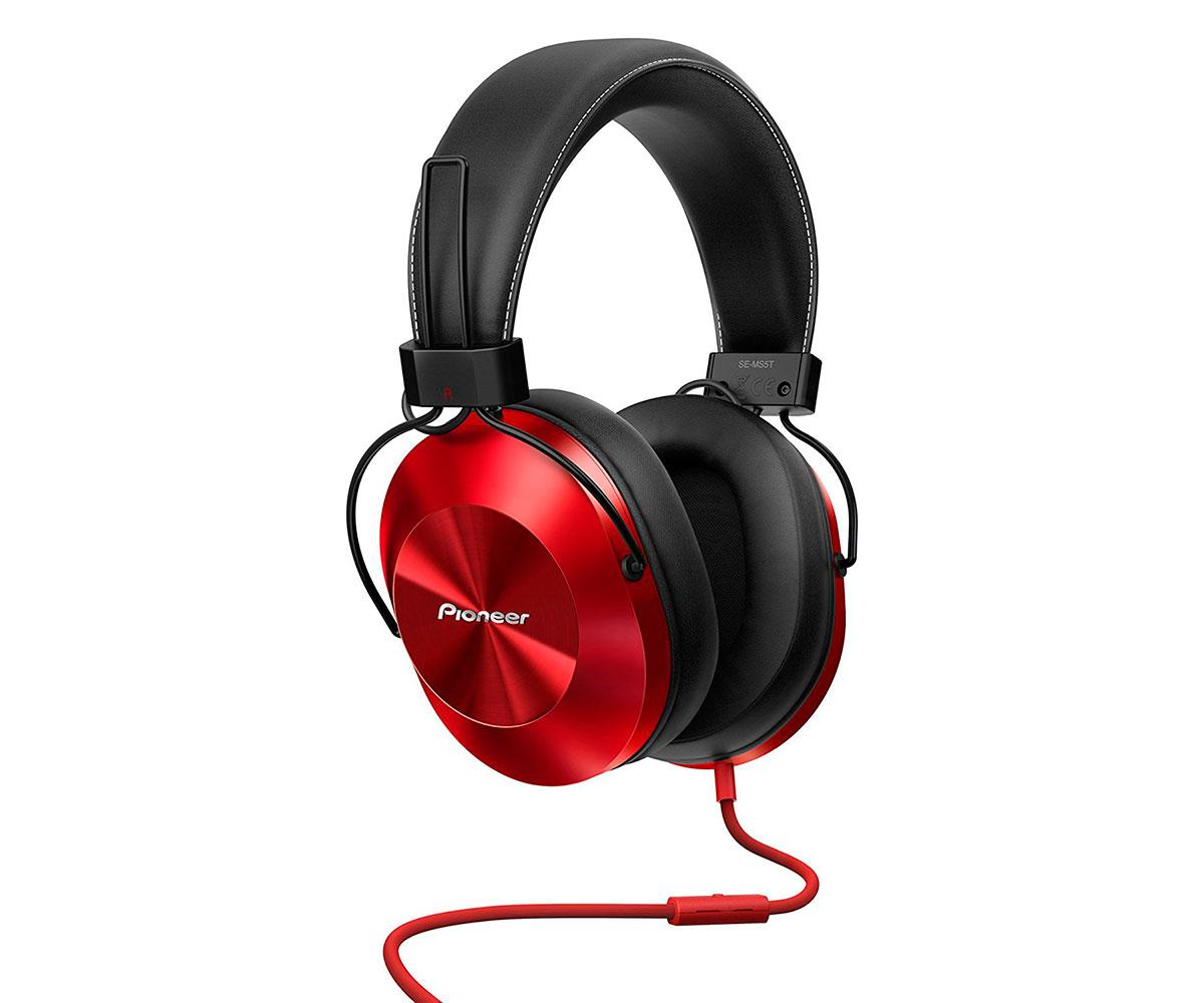 Auriculares con Micrófono PIONEER SE-MS5T Rojo