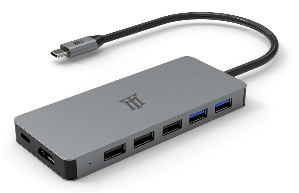 HUB MAILLON PREMIUM TIPO C 3.1 TO HDMI 4K ALUMINIO 11.1