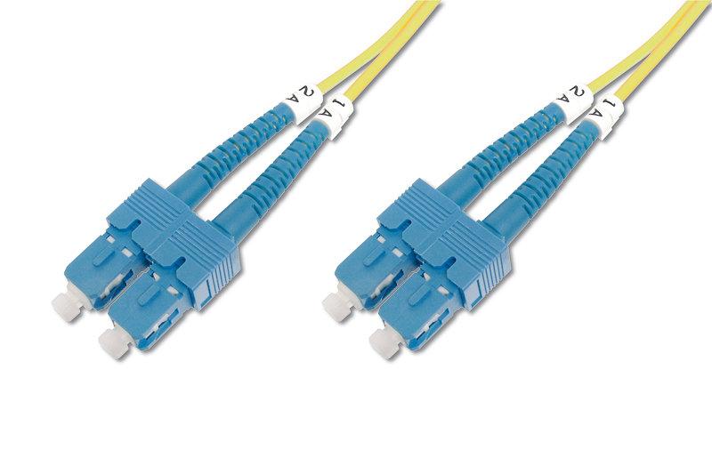 CABLE CONEXION FIBRA OPTICA DIGITUS SM SC a SC OS2 09/125 2m
