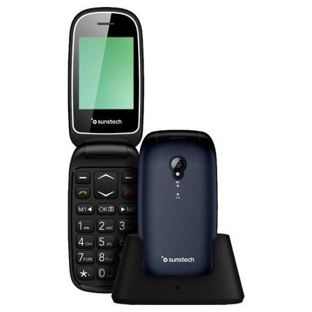 TELÉFONO MÓVIL SUNSTECH CELT17 BLUE - PANTALLA LCD 2.4/6.09CM - AGENDA 300 CONTA