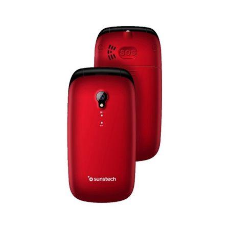 TELÉFONO MÓVIL SUNSTECH CELT17 RED - PANTALLA LCD 2.4/6.09CM - AGENDA 300 CONTAC
