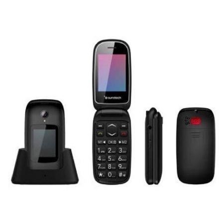 TELÉFONO MÓVIL SUNSTECH CELT22BK BLACK - DOBLE PANTALLA 2.4/6CM 1.77/4.49CM - BT