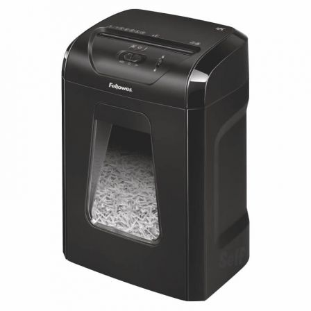 DESTRUCTORA FELLOWES 12C - CORTE EN PARTÍCULAS 4*40MM - PAPELERA CAPACIDAD 18 LI