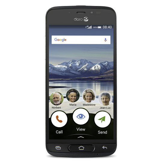 SMARTPHONE SENIOR DORO 8040 5 1GB 16GB NEGRO F2MPX T8MPX 4G