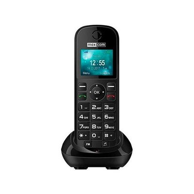 TELEFONO INALAMBRICO MAXCOM FIXED PHONE MM35D NEGRO