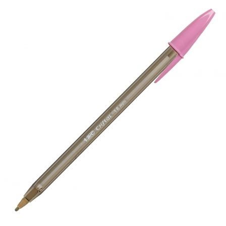 BOLÍGRAFO CRISTAL FUN BIC COLOR ROSA 1.66MM