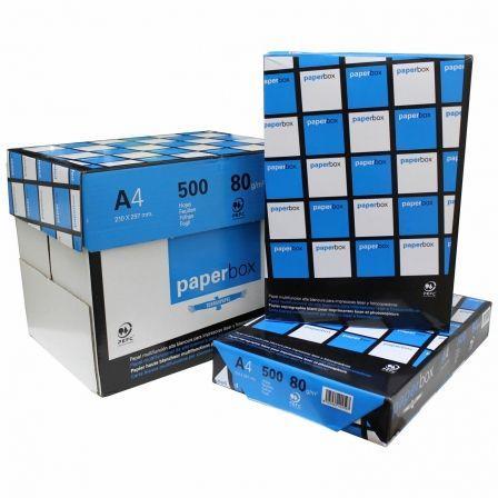 PAPEL PAPERBOX 5 PAQUETES X 500 HOJAS - DIN A4 80GRS - PAPEL DE OFICINA DE ALTA