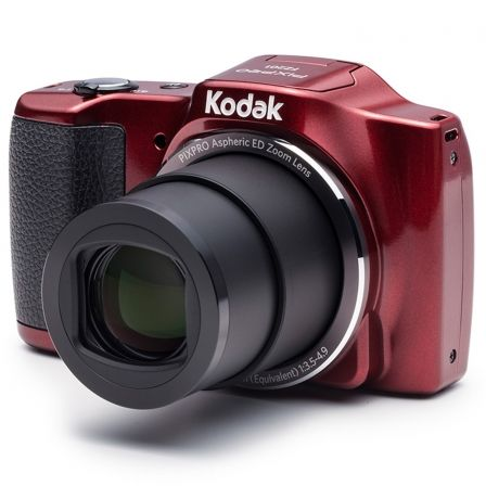 CÁMARA DIGITAL KODAK FRIENDLY ZOOM FZ201 ROJA - 16MPX - LCD 3/7.62CM - ZOOM 20X