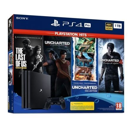 Sony PlayStation 4 Pro 1TB + Uncharted 4 - Legacy - Collection + The Last of Us