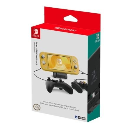 BASE DOBLE HORI USB PLAYSTAND PARA NINTENDO SWITCH / SWITCH LITE - 2*USB 2.0 - L