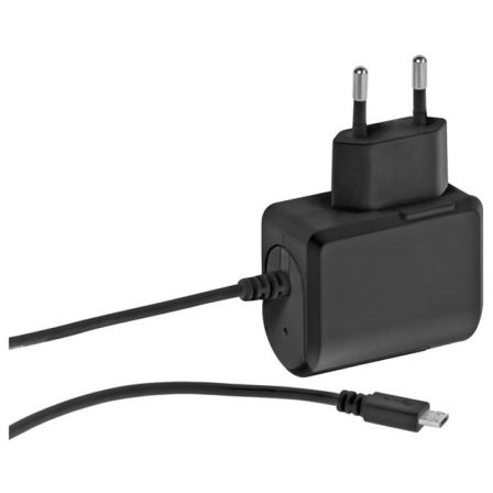 CARGADOR DE PARED MICROUSB VIVANCO 37547 NEGRO - 2.4A - 1M