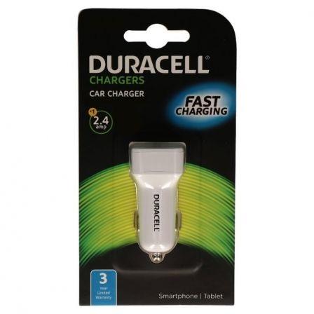 CARGADOR DE COCHE DURACELL DR5030W - USB 5V/2.4A - COLOR BLANCO