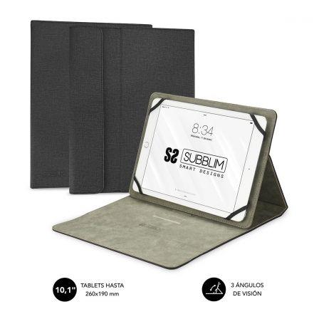 FUNDA UNIVERSAL SUBBLIM CLEVER STAND PARA TABLET HASTA 10.1/25.6CM BLACK - MATER