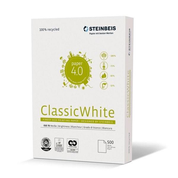 Steinbeis Papel Reciclado A4 80gr. 210x297mm (500 Hojas) Blancura ISO 70