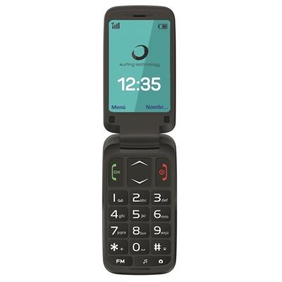 Brigmton BTM-5FLIP Telefono Movil 2.4 SOS BT Negr