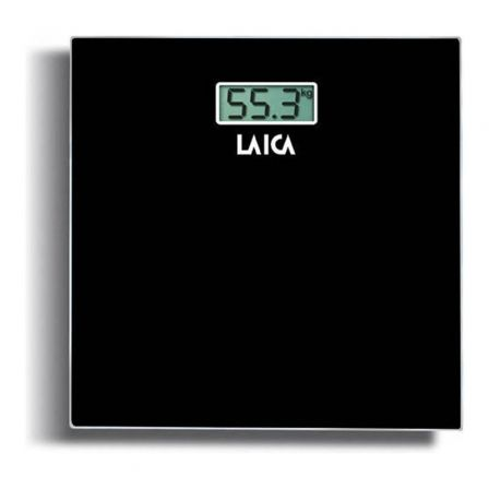 BÁSCULA DE BAÑO LAICA PS1008L1 NEGRA - DISPLAY LCD 7.2*3.05CM - PESO MÁXIMO 150K