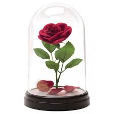 Lampara paladone icon disney bella y la bestía rosa encantada