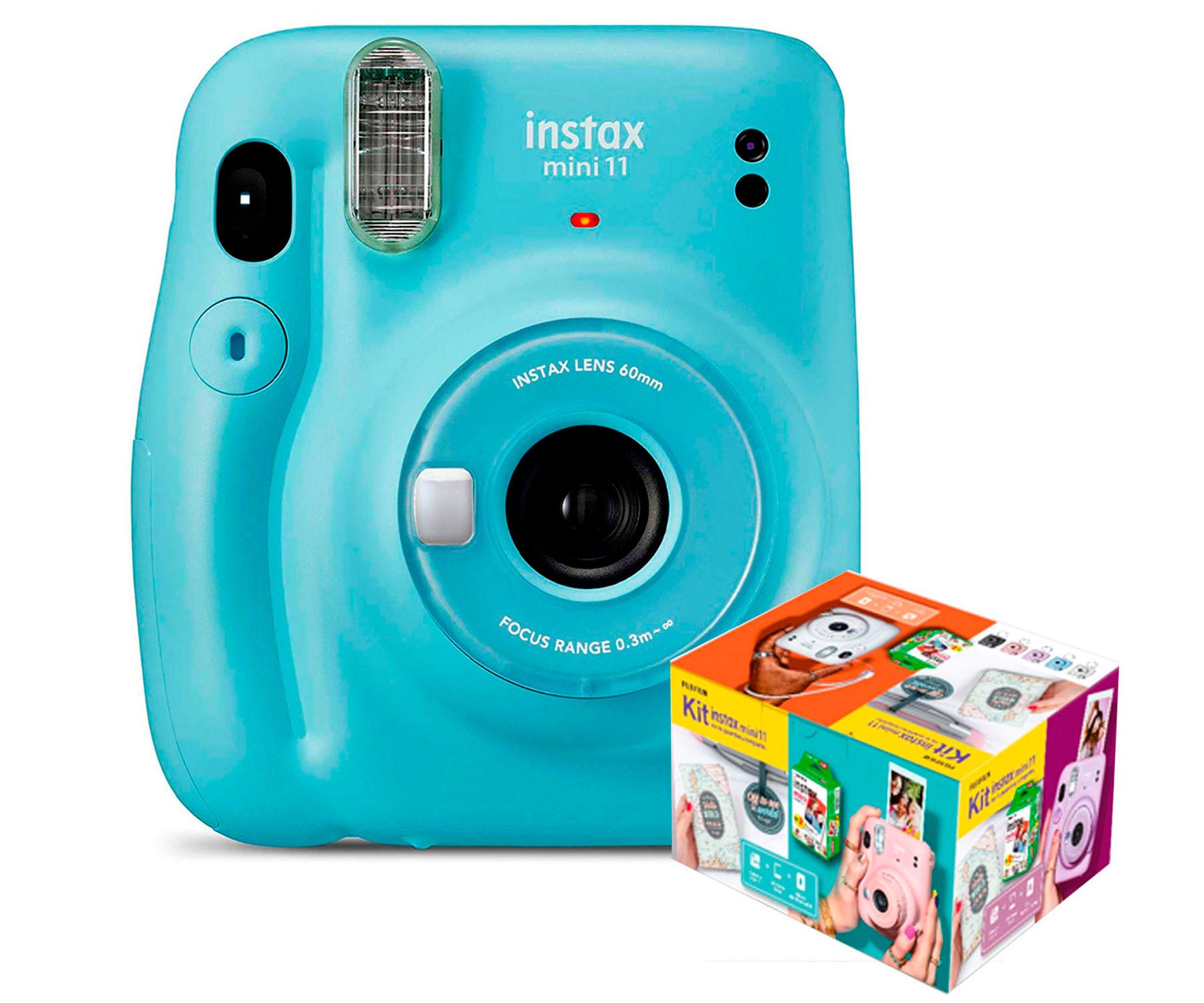 Cámara Instantánea Fujifilm Instax Mini 11 Azul Kit MR.Wonderful