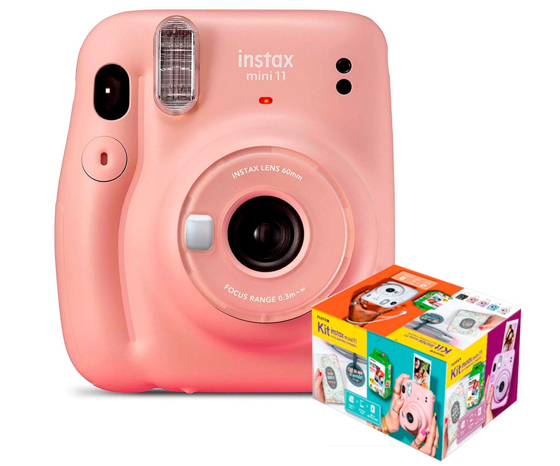 Cámara Instantánea Fujifilm Instax Mini 11 Rosa Kit MR.Wonderful