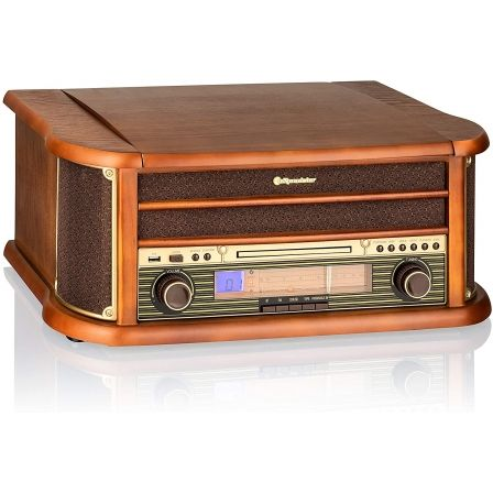 Tocadiscos Roadstar HIF-1993BT/ Bluetooth/ Radio FM/ Conversor a MP3