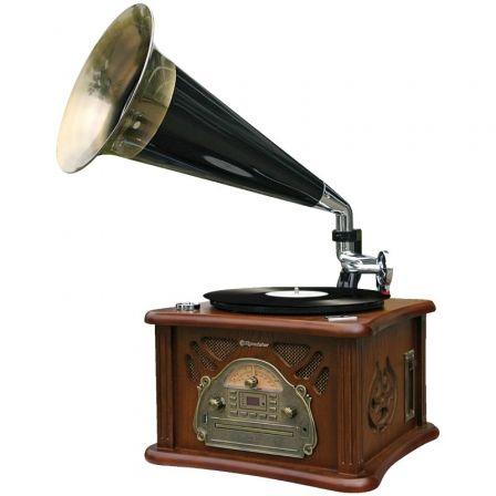Tocadiscos Roadstar HIF-1850TUMPK/ Radio FM/ Conversor a MP3