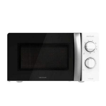 Microondas Cecotec ProClean 2110/ 700W/ Capacidad 20L/ Función Grill/ Negro Blan