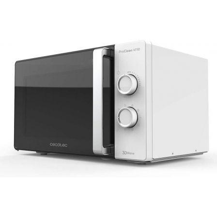 Microondas Cecotec ProClean 4110/ 700W/ Capacidad 23L/ Función Grill/ Blanco Neg