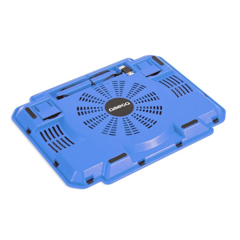 Soporte para Portátil con Ventilación Omega Ice Box Blue 10\