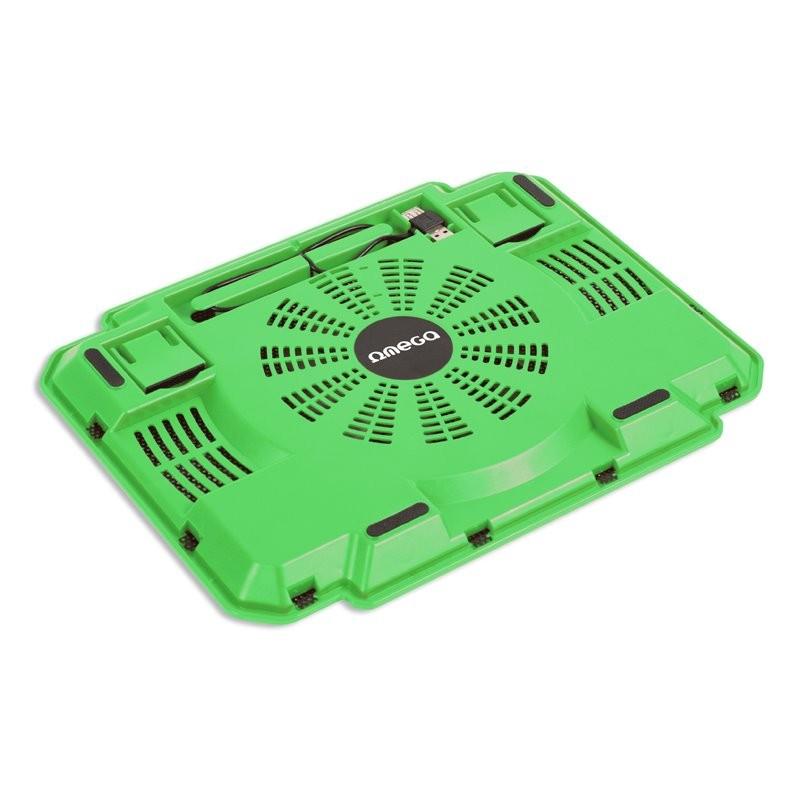 Soporte para Portátil con Ventilación Omega Ice Box Green 10\