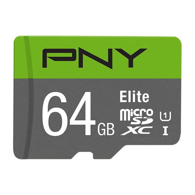 Tarjeta MicroSDXC 64GB Clase 10 UHS-I PNY Elite