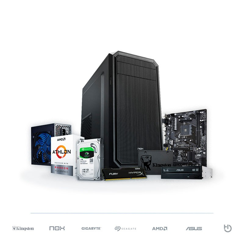 PC BARBANEGRA ADVANCED S Athlon 240GE Radeon Vega 3 8GB DDR4 1TB + 120GB SSD
