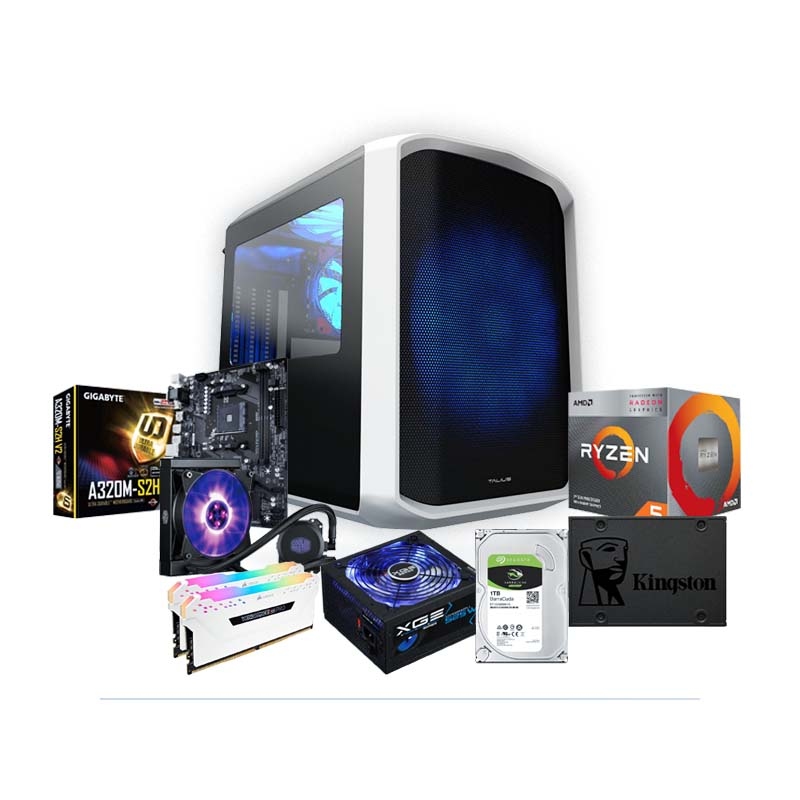 PC SNOWBALL Ryzen 5 3400G + Radeon Vega 11 16GB 240GB SSD + 1TB HDD V2.0