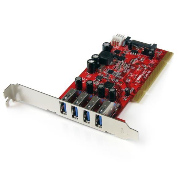Tarjeta PCI SuperSpeed USB 3.0 de 4 Puertos
