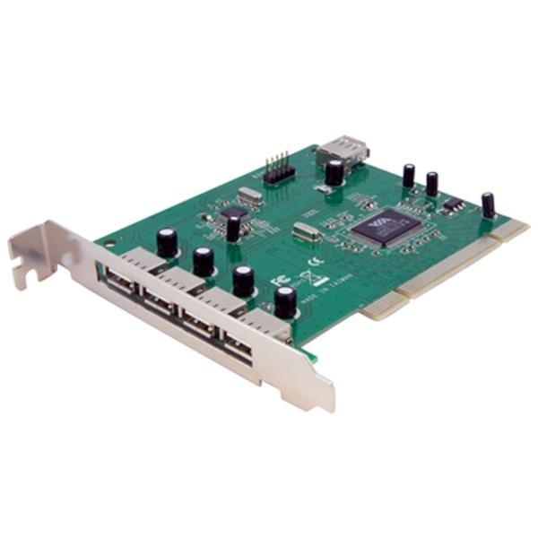 Tarjeta Adaptadora PCI de 7 Puertos USB