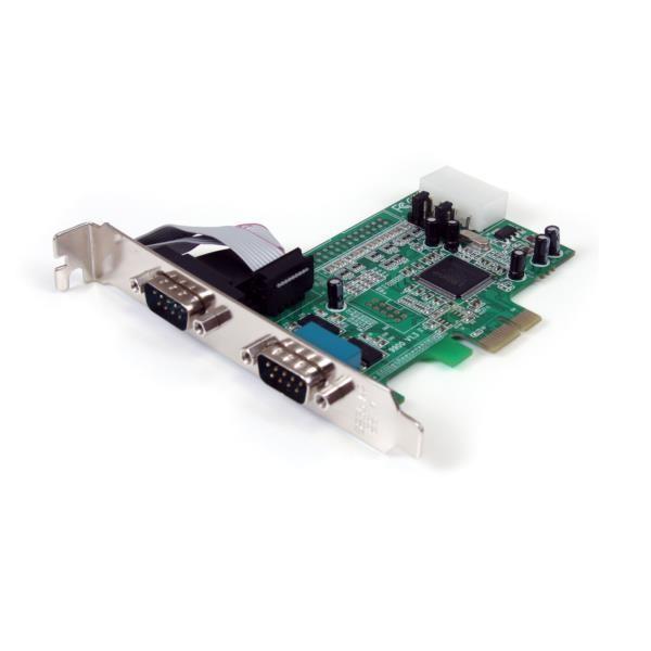 Tarjeta PCIe Serie RS232 de 2 Puertos con UART 16550