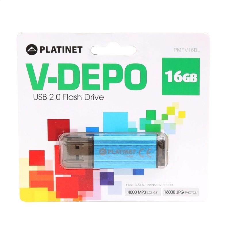Pendrive 16GB Platinet V-Depo Azul
