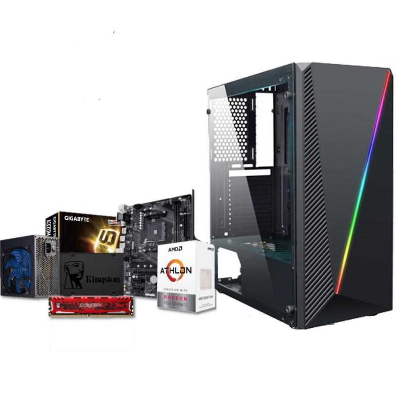 PC Portal Red Athlon 240GE Radeon Vega 3 8GB DDR4 240GB SSD