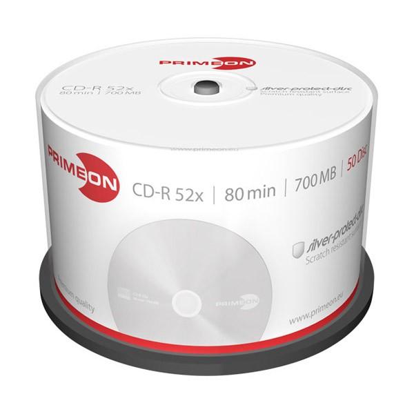 CD-R 52x 700MB Primeon Silver Tarrina 50 uds