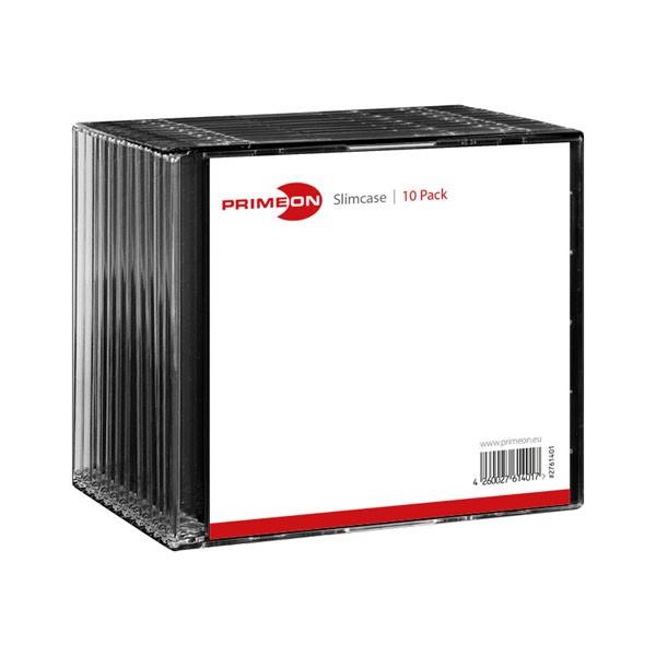 Caja CD Slim Primeon pack 10 uds
