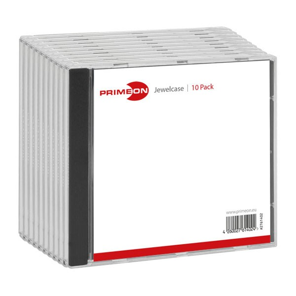 Caja CD Jewel Primeon pack 10 uds