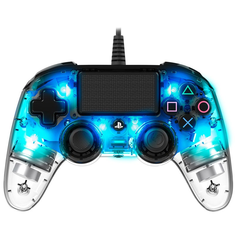 PS4 Gamepad Nacon Wired Azul Transparente