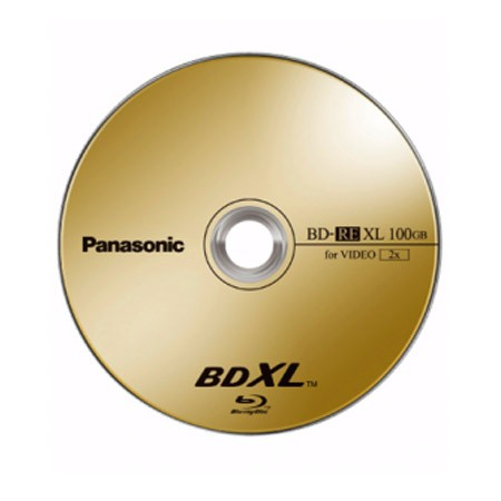 Blu-ray BD-RE XL TL 100GB 2X Panasonic (Regrabable) Caja Jewel 1 uds