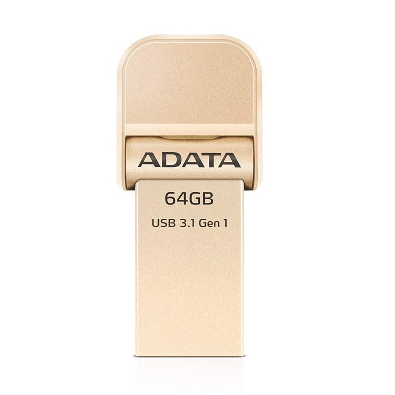 pendrive-64gb-adata-i-memory-ai920-usb-3-1-lightning-gold