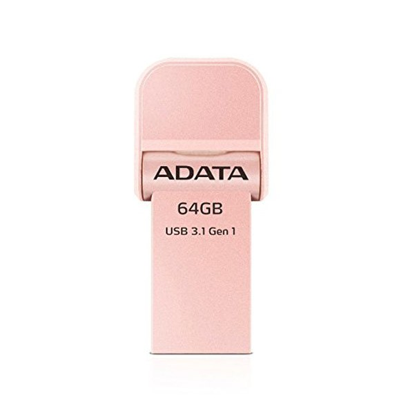 pendrive-64gb-adata-i-memory-ai920-usb-3-1-lightning-rose-gold