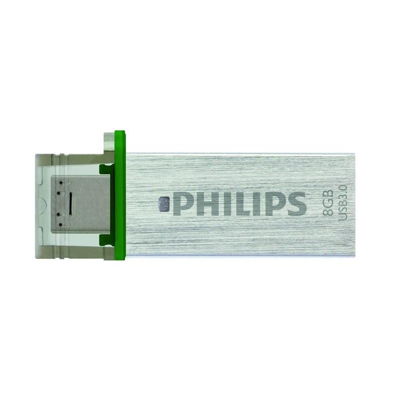 Pendrive 8GB con MicroUSB Philips Mono (USB 3.0)
